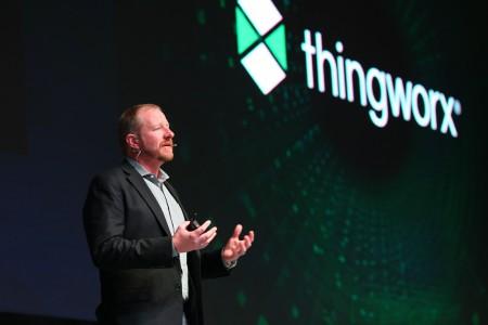 PTC ThingWorx 平台执行副总裁Michael Campbell进行精彩演讲