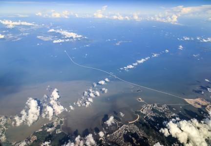 港珠澳大桥航拍图