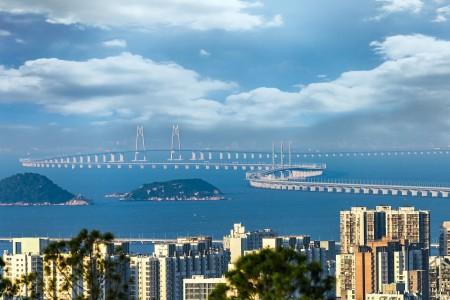 港珠澳大桥远眺图