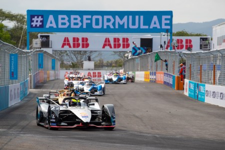 22 ROWLAND Oliver (gbr), Nissan IM01 team Nissan e-Dams, action  depart start  during the 2019 Formula E championship, at Sanya, China  from march 21 to 23, 2019 - Photo Frederic Le Floc'h / DPPI