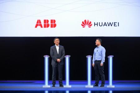 ABB集团亚洲、中东及非洲区总裁 顾纯元和华为Cloud & AI产品与服务CTO 张顺茂致辞