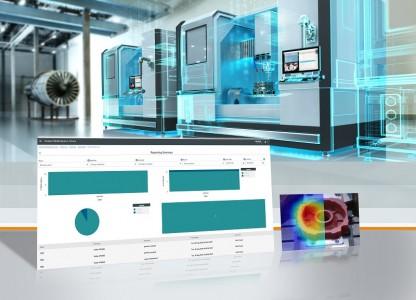 """Siemens bietet mit dem """"Fleet Manager for Machine Tools"""" eine neue App für die industrielle IoT-Plattform MindSphere. Mit der cloud-basierten Applikation (MindApp) lassen sich weltweit Werkzeugmaschinen in kleinen oder großen Produktionsstätten überwachen und so deren Verfügbarkeit und Produktivität erhöhen. Siemens offers """"Fleet Manager for Machine Tools"""", a new app for MindSphere, the industrial IoT platform. With this cloud-based application (MindApp), machine tools worldwide at small or large production sites can be monitored, and their availability and productivity enhanced."""