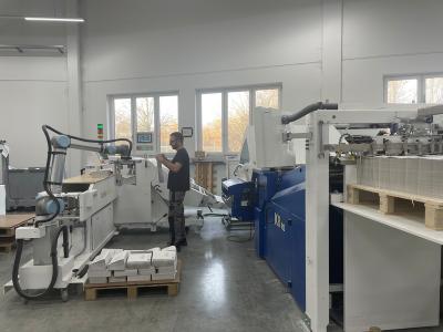 德国公司GeiselbergerGmbh利用UR10机器人码垛印刷品